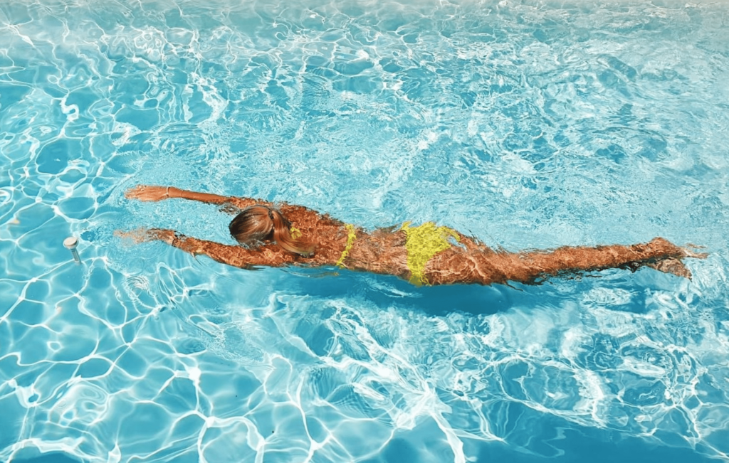 swimming for flat belly